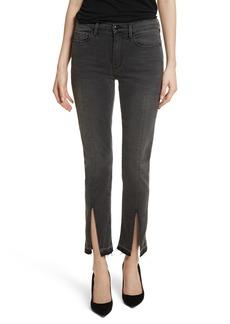 FRAME Le Nouveau Straight Split Hem Skinny Jeans (Woodland)
