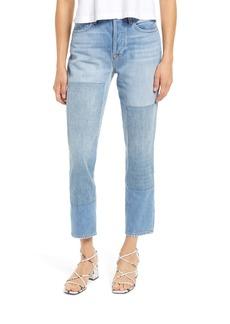 FRAME Le Original Patched High Waist Crop Jeans (Haver)