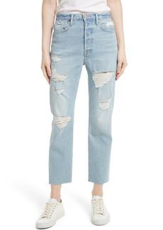 FRAME Le Original Raw Edge High Waist Jeans (Harrah)