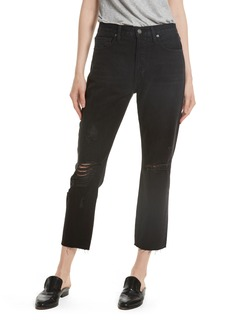 FRAME Le Original Ripped Crop Jeans (Grayridge) (Nordstrom Exclusive)