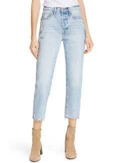 FRAME Le Original Ripped High Waist Crop Jeans (Clash)