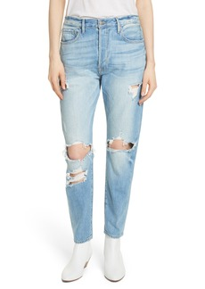 FRAME Le Original Ripped High Waist Skinny Jeans (Pomdale)