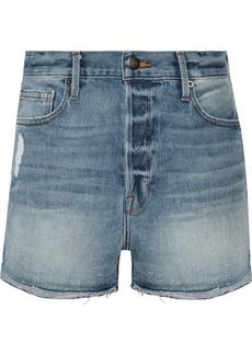 FRAME Le Original Tulip distressed denim shorts