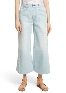 FRAME Le Palazzo Raw Edge Crop Wide Leg Jeans (Taplow)