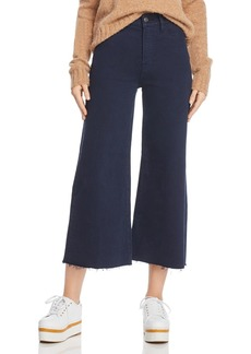 FRAME Le Palazzo Raw-Edge Cropped Jeans in Navy - 100% Exclusive