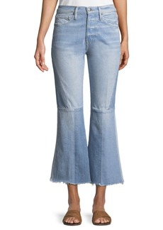 FRAME Le Panel Block Cropped Flare-Leg Jeans