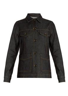 Frame Le Raw cotton-blend denim jacket