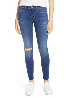 FRAME Le Raw Edge Ripped Crop Skinny Jeans (Washington Square)