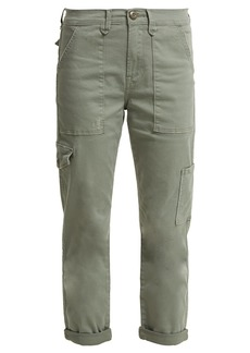 Frame Le Service cotton-blend cropped cargo trousers