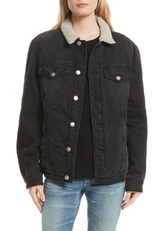 FRAME Le Sherpa Denim Jacket