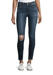 FRAME Le Skinny de Jeanne Crop Raw-Edge Jeans