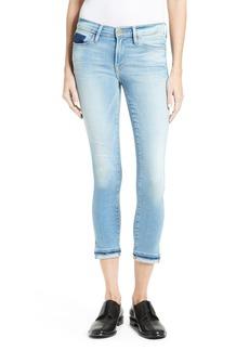FRAME Le Skinny de Jeanne Crop Release Hem Jeans (Benton) (Nordstrom Exclusive)