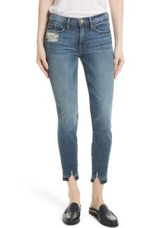 FRAME Le Skinny de Jeanne Crop Release Hem Jeans (Roberts) (Nordstrom Exclusive)