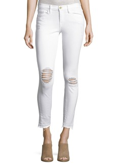 FRAME Le Skinny de Jeanne Crop Released-Hem Jeans