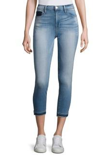 FRAME Le Skinny De Jeanne Cropped Slit Hem Skinny Jeans