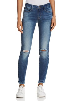 FRAME Le Skinny De Jeanne Double Raw-Edge Jeans in Lambeth - 100% Exclusive