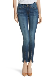 FRAME Le Skinny de Jeanne High Waist Zip Hem Skinny Jeans (Napa)