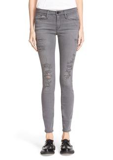FRAME Le Skinny de Jeanne Jeans (Grey Shred)