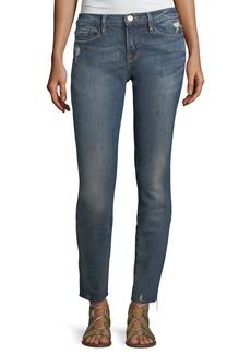 FRAME Le Skinny de Jeanne Low-Rise  Jeans w/ Raw-Edge Hem