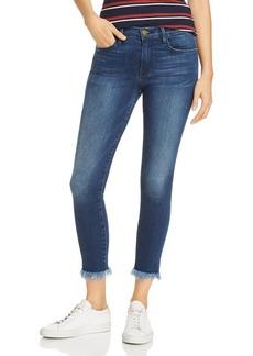 FRAME Le Skinny De Jeanne Micro Shredded-Hem Jeans in Cantine