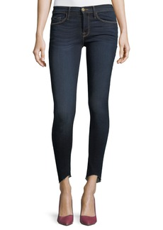 FRAME Le Skinny De Jeanne Mid-Rise Scoop-Hem Jeans