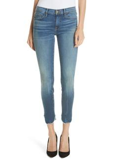 FRAME Le Skinny de Jeanne Petal Hem Ankle Jeans (Sherman)