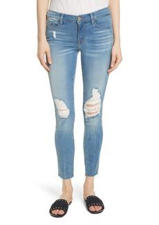 FRAME Le Skinny de Jeanne Raw Edge Crop Skinny Jeans (Stanwell)