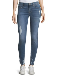 FRAME Le Skinny De Jeanne Raw-Edge Jeans