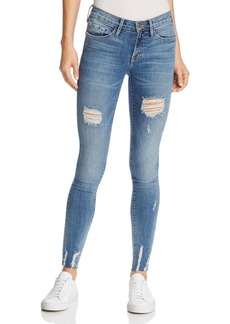 FRAME Le Skinny De Jeanne Raw-Edge Jeans in Sedgwick