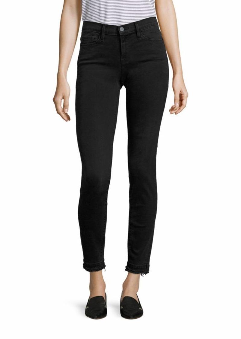 FRAME Le Skinny De Jeanne Raw-Edge Skinny Jeans