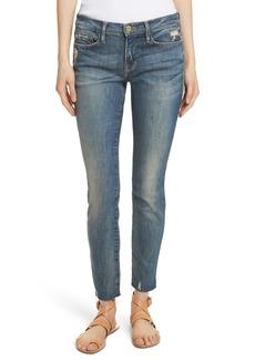 FRAME Le Skinny de Jeanne Raw Edge Skinny Jeans (Victoria Park)