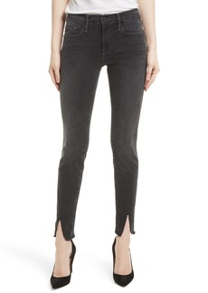 FRAME Le Skinny de Jeanne Raw Front Split Skinny Jeans (Drover)
