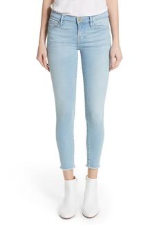 FRAME Le Skinny de Jeanne Raw Hem Crop Skinny Jeans (Jerome)