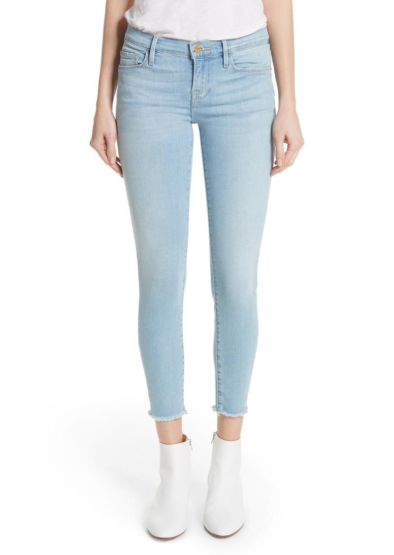 2a747c76c47f7 FRAME FRAME Le Skinny de Jeanne Raw Hem Crop Skinny Jeans (Jerome ...