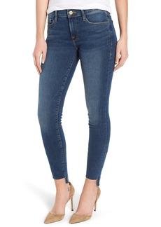 FRAME Le Skinny de Jeanne Raw Step Hem Skinny Jeans (Woodbine)
