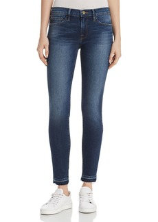 FRAME Le Skinny De Jeanne Released Hem Jeans in Woodbine - 100% Exclusive