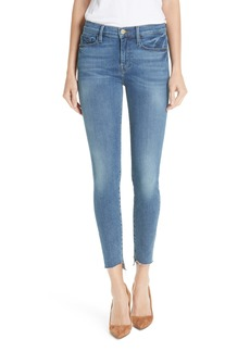 FRAME Le Skinny de Jeanne Reverse Cascade Hem Jeans (Cape May)