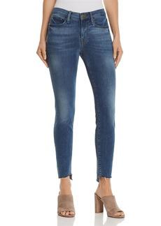FRAME Le Skinny De Jeanne Reverse Cascade Step-Hem Jeans in Cape May