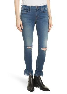 FRAME Le Skinny de Jeanne Shredded Raw Hem Jeans (Lambeth)