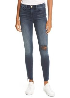 FRAME Le Skinny de Jeanne Skinny Jeans (Dawn Chew Rips)
