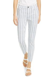 FRAME Le Skinny de Jeanne Surfer Stripe Ankle Skinny Jeans (Dutch Blue Multi)