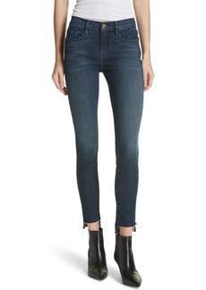FRAME Le Skinny Raw Step Hem Jeans (Galvin)