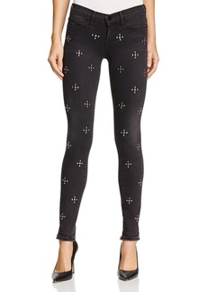 FRAME Le Skinny Studded Double Raw-Edge Jeans in Carlton Studs - 100% Exclusive