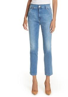 FRAME Le Slender Straight Leg Jeans (Thistle)