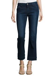 FRAME Le Slim Straight Cropped Denim Jeans