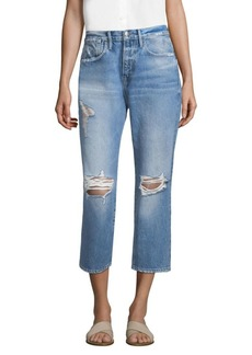 FRAME Le Stevie Cropped Distressed Jeans