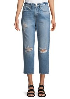 FRAME Le Stevie Cropped Straight-Leg Jeans