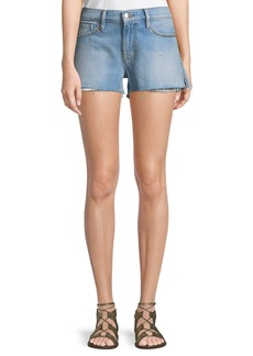 FRAME Le Studded Cutoff Denim Shorts