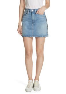 FRAME Le Studded Denim Miniskirt