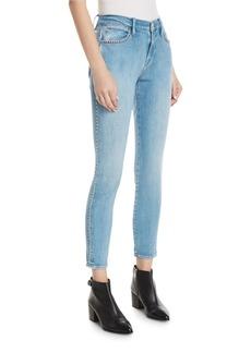 FRAME Le Studded High-Waist Skinny Jeans